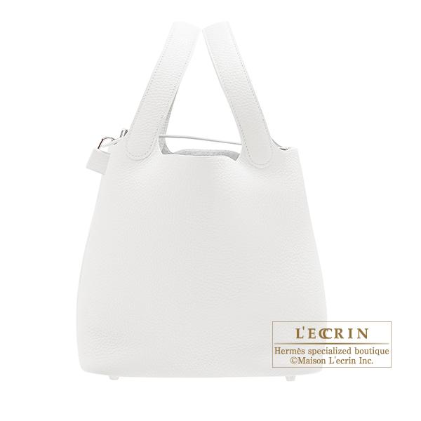 【良好品】 エルメス leather Silver ピコタンロックMM ホワイト bag トリヨンクレマンス シルバー金具 HERMES Picotin Lock bag hardware MM White Clemence leather Silver hardware, FOREST STONE:01644515 --- esef.localized.me