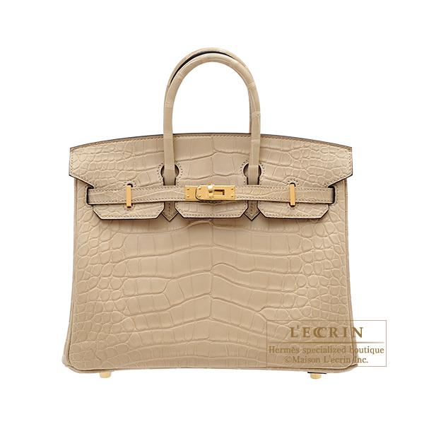 エルメス バーキン25 トレンチ クロコダイル アリゲーターマット ゴールド金具 HERMES Birkin bag 25 Trench Matt alligator crocodile skin Gold hardware