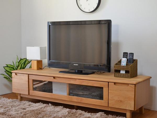 テレビ台 天然木 完成品 おしゃれなデザイン ローボード TVボード 幅150cm ナチュラル シンプル 収納 木製 北欧 ERIS
