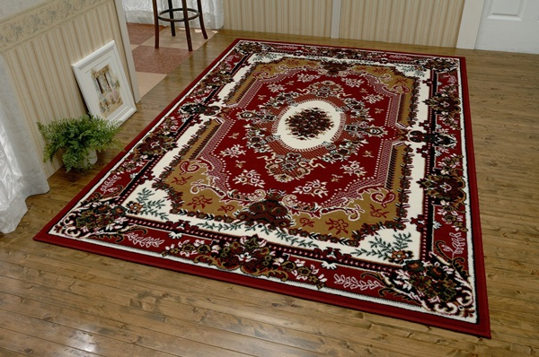 ベルギー製 ウィルトン織 カーペット 4.5帖用 240cm×240cm スミルナ メダリオンデザイン ラグ マット 絨毯 じゅうたん リビング 新生活