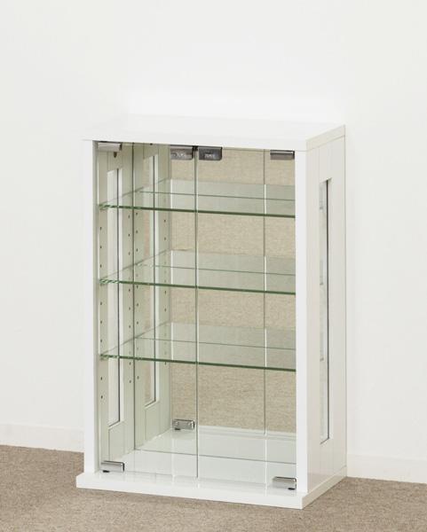 卓上コレクションケース 縦型(ホワイト) KU666