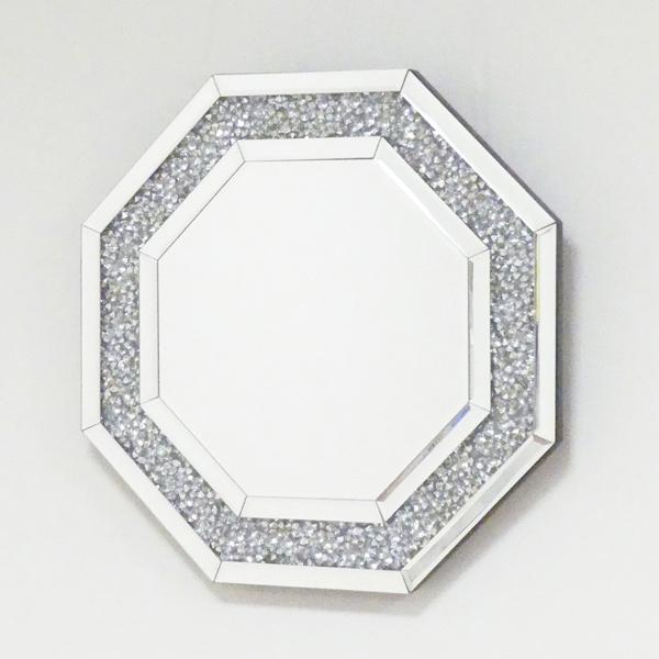 【期間限定 ポイント5倍】 八角ミラー ダイヤ KU711