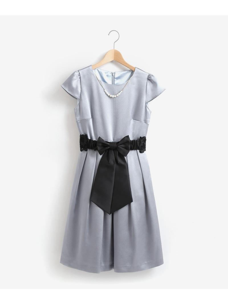[Rakuten BRAND AVENUE]ウエストリボンドレス MAJESTIC LEGON マジェスティックレゴン ワンピース【送料無料】