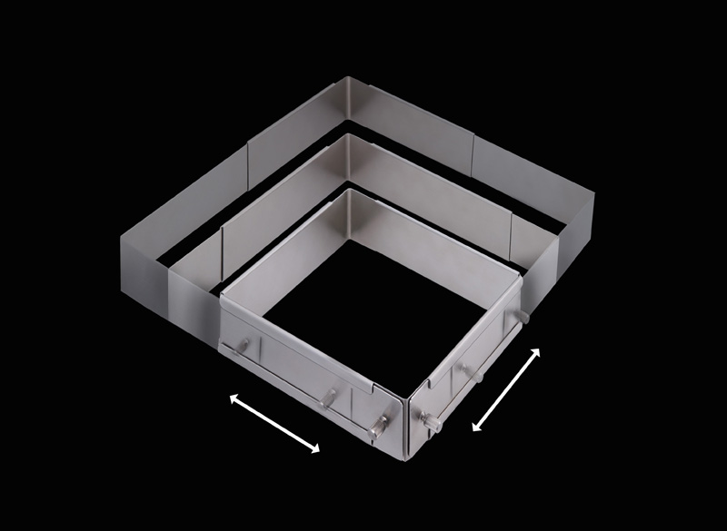 パズルパン(大)伸縮自在可動式 角セルクル型(ステンレス)
