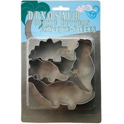 フォックスラン クッキー型セット 恐竜 4個 セット オンラインショップ ブリキ RUN 5☆好評 FOX F3557