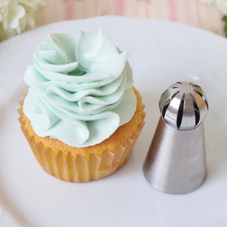 天使のカップケーキと餡クリームのお試し画像あり 限定モデル 立体口金 No469 最新号掲載アイテム 3Dホイップ口金