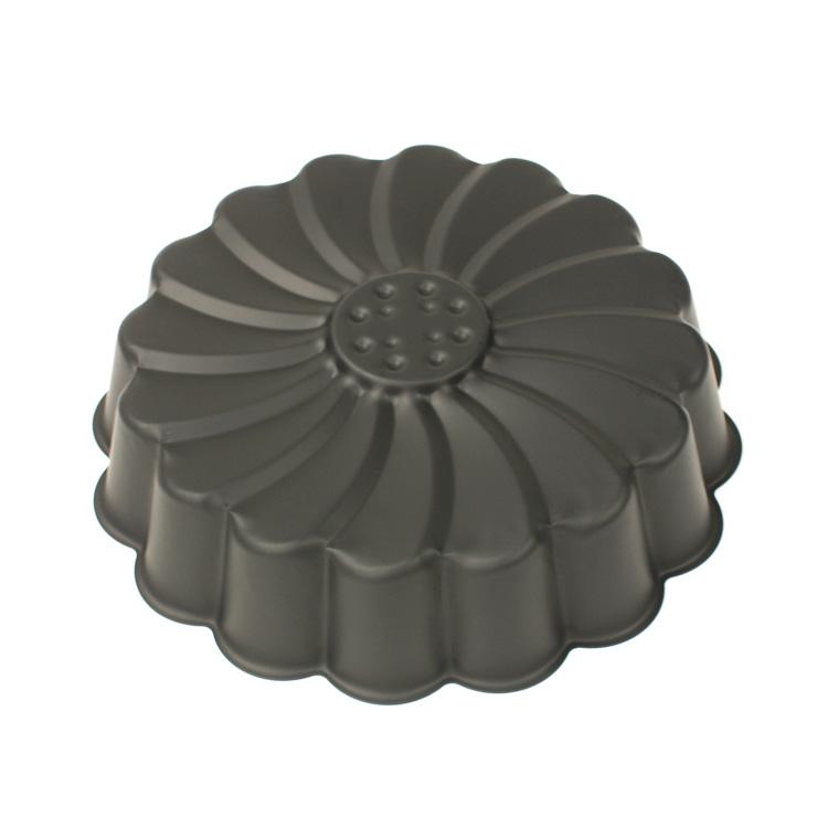 空焼き 不要  ブラック マルグリット型 20cm シリコン加工 | 20センチ タイガークラウン CAKELAND ケーキランド 5011