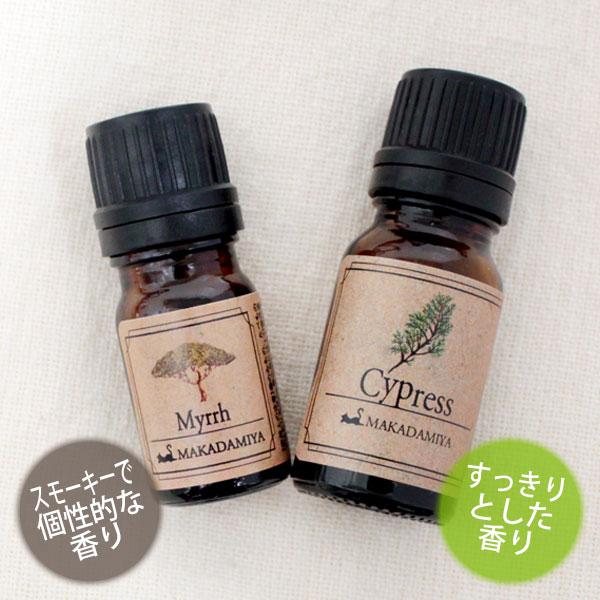 ネコポス送料無料 ミルラ5ml&サイプレス10mlセット 天然100%エッセンシャルオイル 精油★アロマオイル(Cypress)(Myrrh)