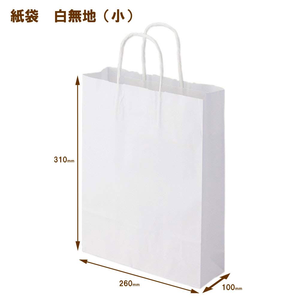 Plain White Paper Bags Small