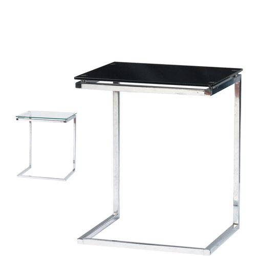 ナイトテーブル ソファーテーブル ベッドサイドテーブル PCテーブル ミニテーブル 机 リビング インテリア 雑貨 在宅勤務 ブラック イエナカ 新生活 ガラス天板 テレワーク 国産品 幅45×奥行40×高さ54.5cm 超安い サイドテーブル
