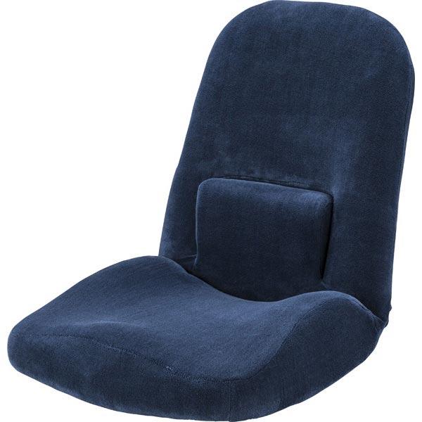 腰サポートリクライナー フロアチェア 腰楽座椅子 リクライニング機能付ランバーサポート付 ボリューム座椅子 ストレッチ座椅子 腰サポートリクライナー 【幅47×奥行61~103×高さ58~14cm】 RKC-172NV 座椅子 東谷 東谷 新生活