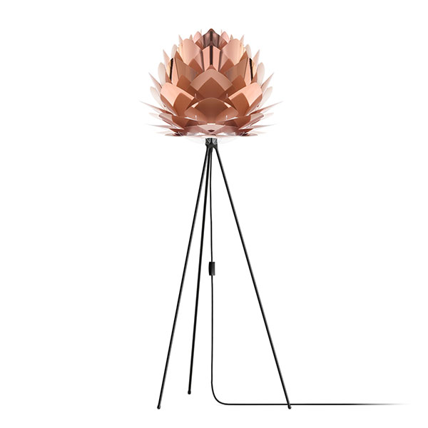 ELUX エルックス 02030tfbk VITA Silvia copper (Tripod Floor/ブラック) 照明 照明器具 【電球別売】