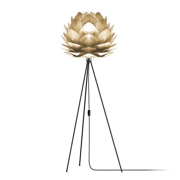 ELUX エルックス 02070tfbk VITA Silvia Brushed Brass (Tripod Floor/ブラック) 照明 照明器具 【電球別売】