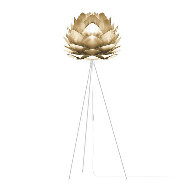 ELUX エルックス 02070tfwh VITA Silvia Brushed Brass (Tripod Floor/ホワイト) 照明 照明器具 【電球別売】