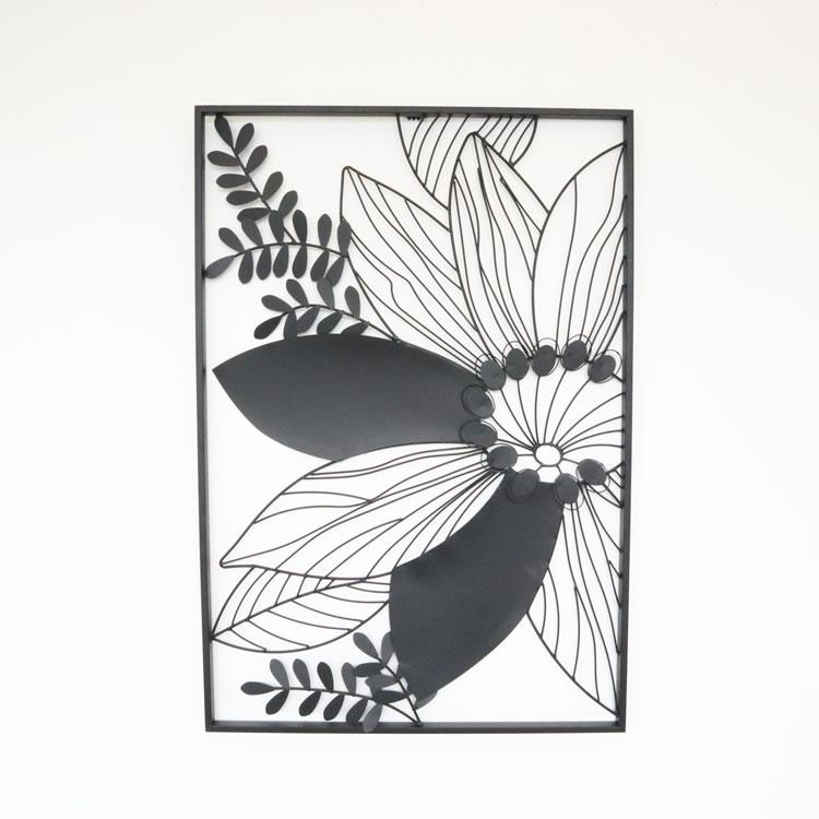 ウォールアートパネル 壁掛け 壁飾り フラワー 【幅61×奥行3×高さ88cm】 インテリア 雑貨