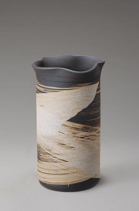 信楽焼 傘 立て いぶし刷毛目 傘立て 陶器 おしゃれ 日本製 国産 結婚祝い 新築祝い アンブレラスタンド