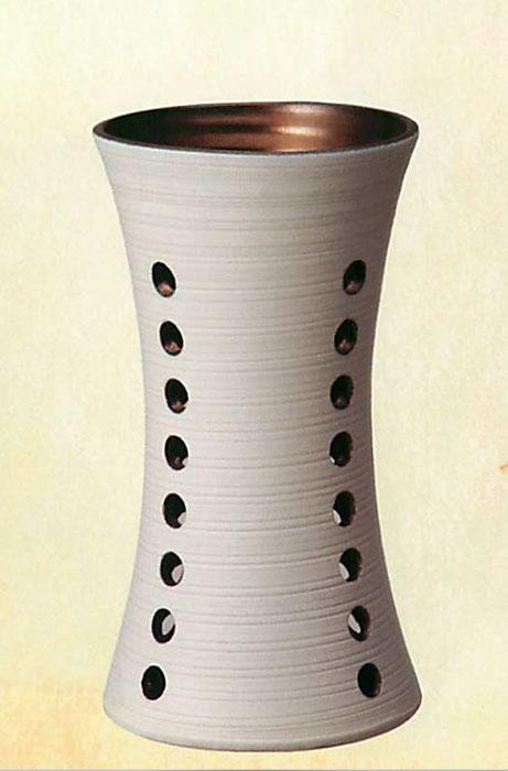 信楽焼 傘 立て 白マットスカシ金彩 傘立て 陶器 おしゃれ 日本製 国産 結婚祝い 新築祝い アンブレラスタンド