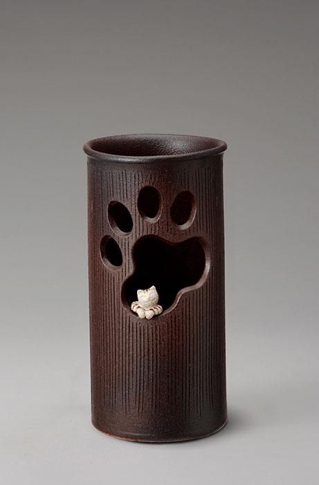 信楽焼 傘 立て 窓ねこ 傘立て 陶器 おしゃれ 日本製 国産 結婚祝い 新築祝い アンブレラスタンド