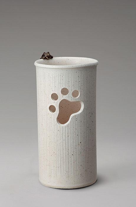 信楽焼 傘 立て ねこ付 傘立て 陶器 おしゃれ 日本製 国産 結婚祝い 新築祝い アンブレラスタンド