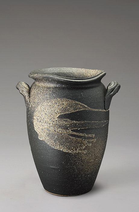 信楽焼 傘 立て 黒陶白流し 傘立て 陶器 おしゃれ 日本製 国産 結婚祝い 新築祝い アンブレラスタンド