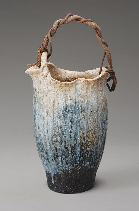 信楽焼 傘 立て 白窯変つる付 傘立て 陶器 おしゃれ 日本製 国産 結婚祝い 新築祝い アンブレラスタンド 新生活