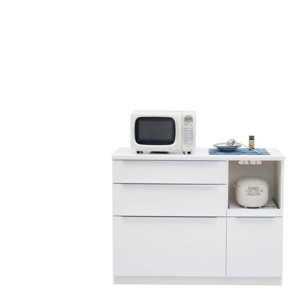 【本州、四国は開梱設置無料】 共和産業 コロン キッチンカウンター 120 ホワイト【幅120.3×高さ93cm】 日本製 国産