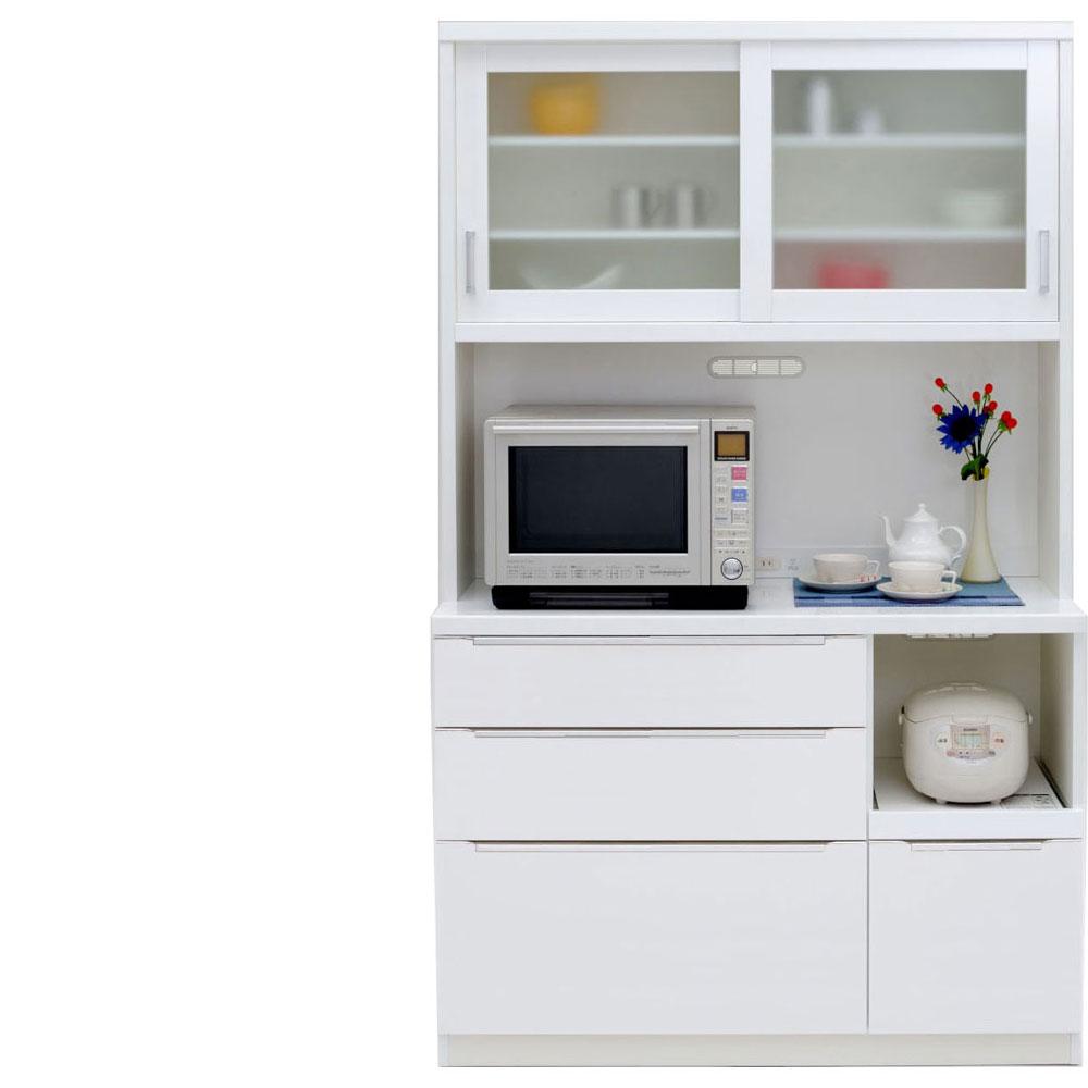 【本州、四国は開梱設置無料】 共和産業 コロン キッチンボード 食器棚 120 ホワイト【幅120.3×高さ200cm】 2個口 日本製 国産