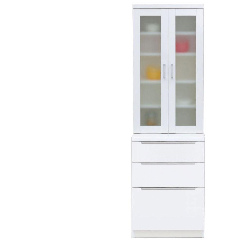 【本州、四国は開梱設置無料】 共和産業 コロン キッチンボード 食器棚 60 ホワイト【幅60.3×高さ200cm】 2個口 日本製 国産