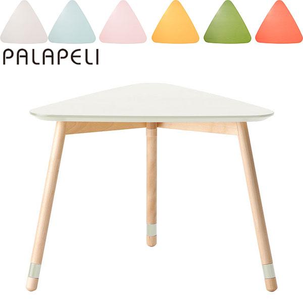 旭川家具 メーベルトーコー パラペリ 子ども用 【幅61.6×奥行56.2×高さ44.2cm】 テーブル さんかく しろ ピンク みずいろ きいろ オレンジ みどり