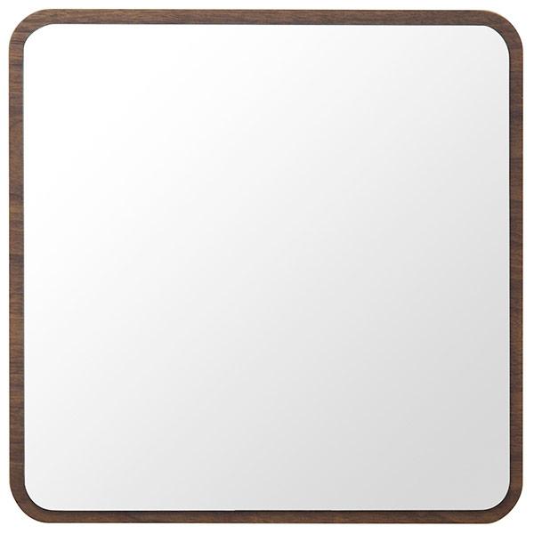塩川光明堂 ハビット ウォールミラー 【幅35×奥行5.8×高さ35cm】 ブラウン Hbit-square-BR 新生活