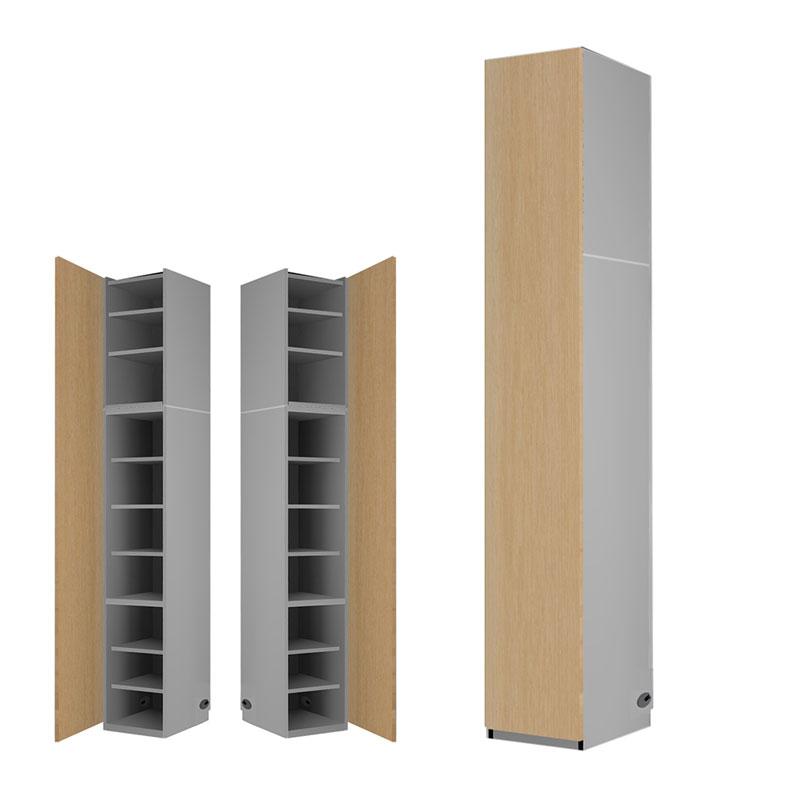 関東地方限定 すえ木工 Universal Storage 壁面収納 1枚扉キャビネット 高さオーダータイプ 幅40×奥行42×高さ229-240cm US D42 40-ODT H229-240 限定SALE,爆買い