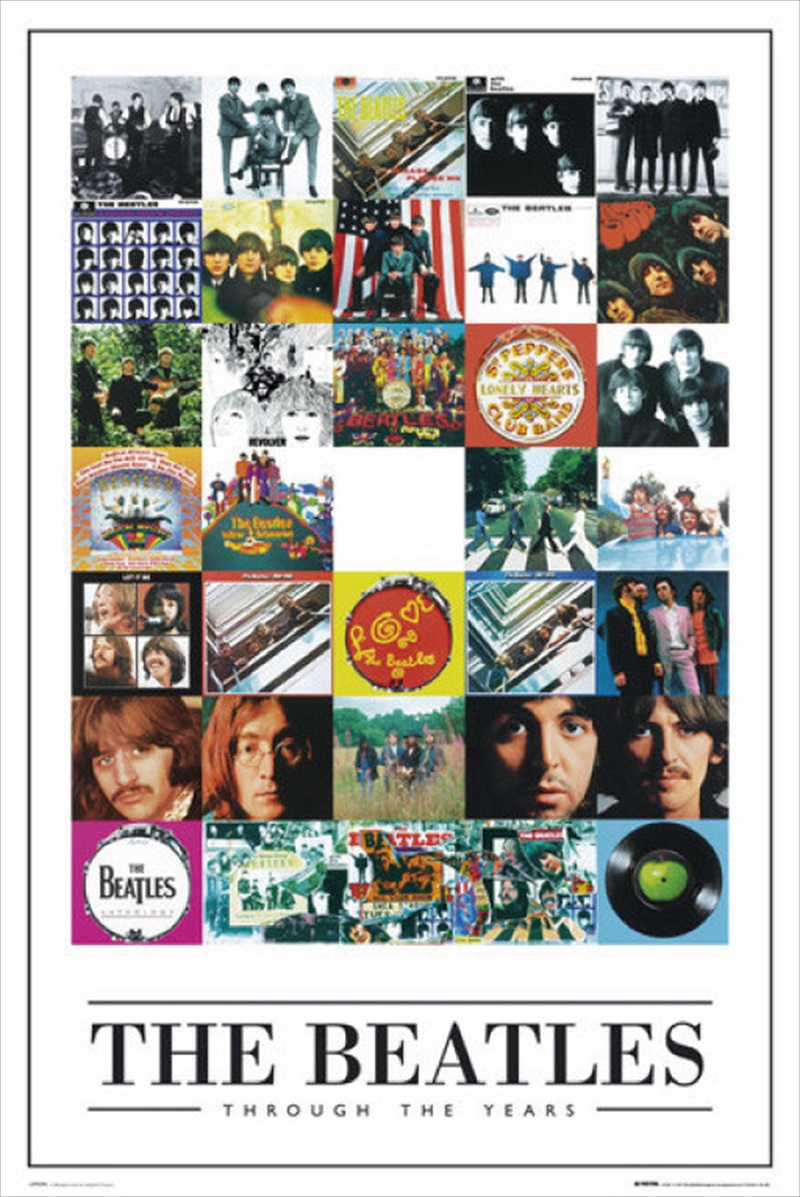 ポスター 全商品オープニング価格 訳あり品送料無料 The Beatles Through the Years ビートルズ