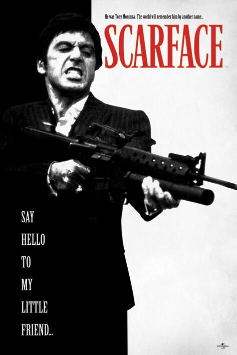 お部屋に飾りやすいポスター ポスター Scarface Say Hello ハイクオリティ To Little 即日出荷 POSTER-2366 Friend My