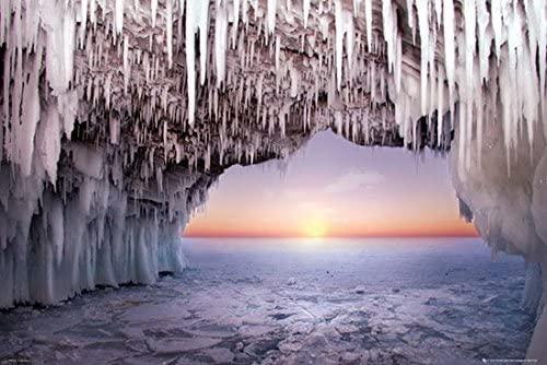 安全 お部屋に飾りやすいポスター 高い素材 ポスター PH-0523 氷の洞窟