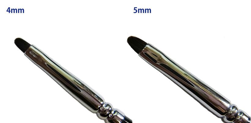 メール便 ネコポスOK 人気 おすすめ ナイロン 黒 毛幅約4mm 毛幅約5mm リキッド系のメイクを とても滑らかに繊細に仕上げます ライナーブラシ ジェルブラシ 『1年保証』 定形外郵便1件につき複数同梱可能 ポイント 毛幅4mm 5mm まとまりのよい とても繊細な黒ナイロン《メール便 2種類 ネコポス対応 複数同梱可能》リキッド向き アート コンシーラー 洗浄に強く 多目的に使えますネイル