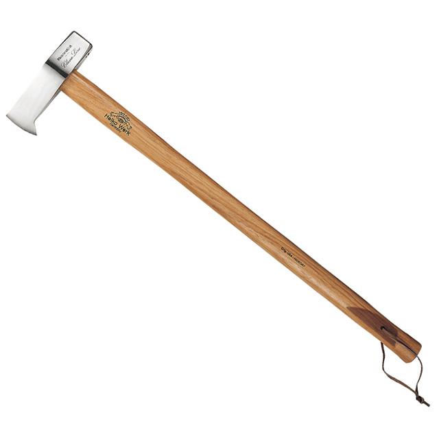 クラシックライン Mark-5(マーク5) 鏡面仕上げの美しい刃と使い心地抜群のローレット・グリップを備える工芸品のような斧 本格薪割り用 ヘルコ アックス