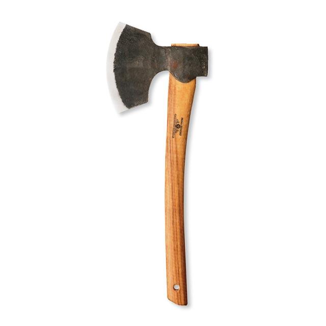 【送料無料】【限定生産品】グレンスフォシュ・ブルーク ブロード スウェーデン鋼の頑強な斧。製作者のイニシャルが刻印されています。ログビルダー向けの特殊な刃の形状。 アックス