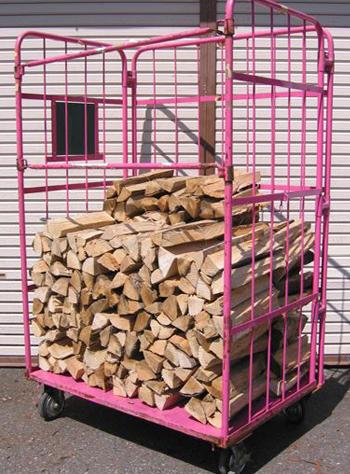 広葉樹ミックス乾燥薪36cm大中割43束(258kg) 規定乾燥期間6カ月以上 代引不可 日祝の配達不可 時間帯指定できません 薪ストーブ用の薪 蒔 たきぎ