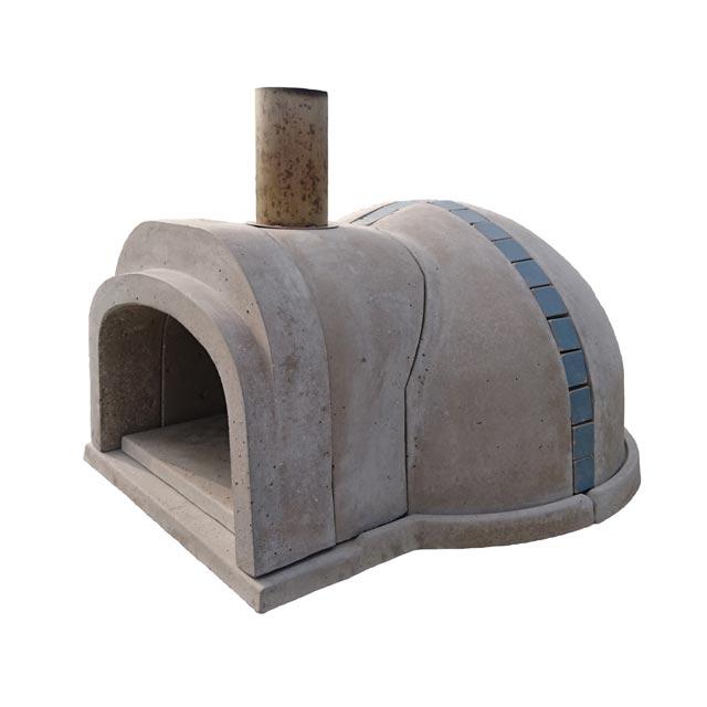 【冷凍生地玉と水牛乳モッツァレラをプレゼント】石窯クロスドーム(タイル:ライトブルー) コンパクトで簡単に設置可能なドーム形状の本格的な石窯キット。燃料に薪を使います ピザ窯 石釜 ピザ釜