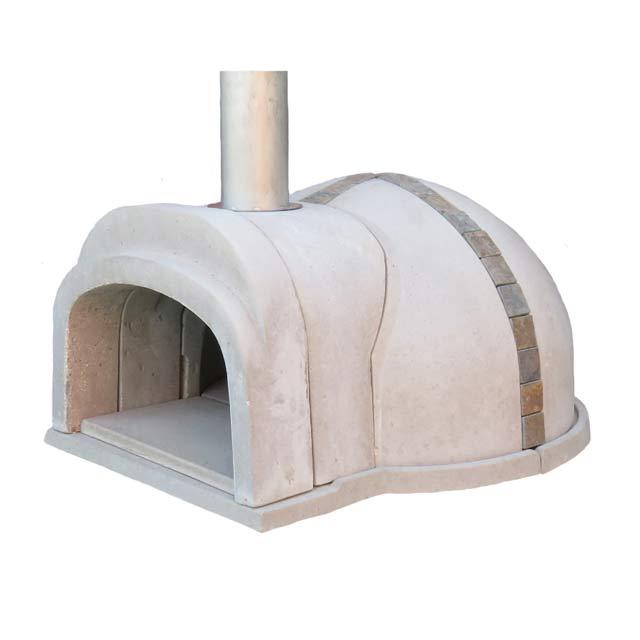 【冷凍生地玉と水牛乳モッツァレラをプレゼント】石窯クロスドーム(タイル:天然石) コンパクトで簡単に設置可能なドーム形状の本格的な石窯キット。燃料に薪を使います ピザ窯 石釜 ピザ釜