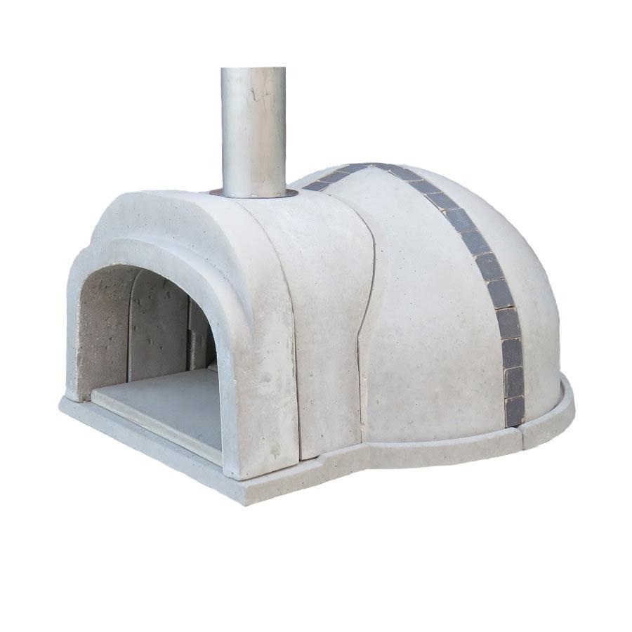 【冷凍生地玉と水牛乳モッツァレラをプレゼント】石窯クロスドーム(タイル:ネイビー) コンパクトで簡単に設置可能なドーム形状の本格的な石窯キット。燃料に薪を使います ピザ窯 石釜 ピザ釜