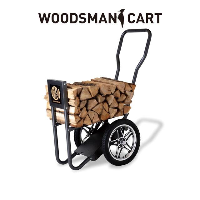 ウッズマンカートWoodsman Cart 大量の薪を一気に運べるカート 薪運びのための工夫が随所に施されています。40cm以上の薪に対応【代引不可】