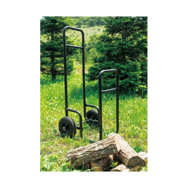 ログキャディー 車輪が大きく屋外向けのログキャリーです。一度に大量の薪を運ぶことができます【代引不可】