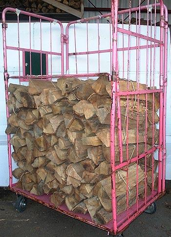 ナラ乾燥薪45cm特大割30束(330kg)【ご予約可能】太い薪のみを麻紐で結束 火持ち抜群です 規定乾燥期間10カ月以上 代引不可 日祝の配達不可 時間帯指定できません 薪ストーブ用の薪 蒔 たきぎ
