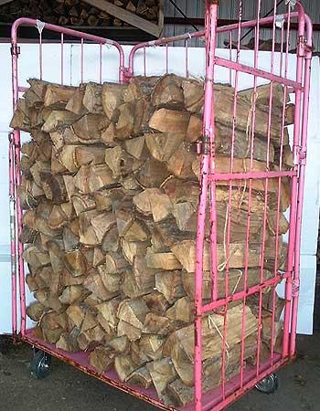 ナラ乾燥薪45cm特大割50束(550kg)【ご予約可能】太い薪のみを麻紐で結束 火持ち抜群です 規定乾燥期間10カ月以上 代引不可 日祝の配達不可 時間帯指定できません 薪ストーブ用の薪 蒔 たきぎ