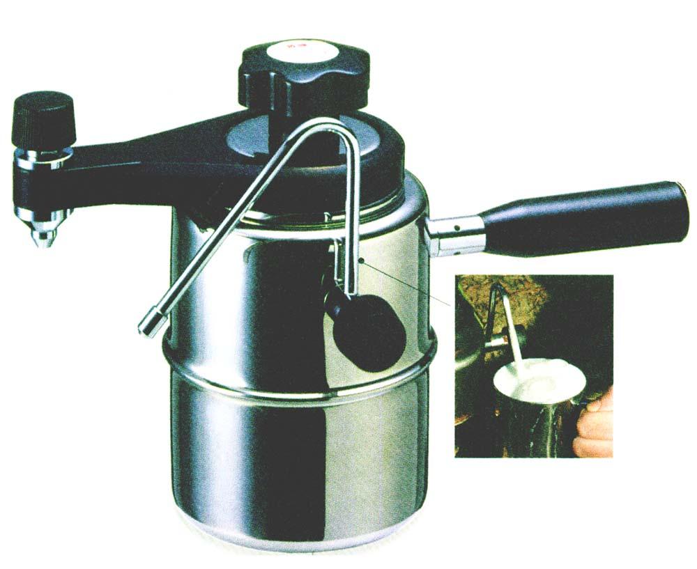 エスプレッソ・カプチーノメーカー コーヒーフリークもうなずく本格マシーン 直火式なので薪ストーブやガスコンロで使えます
