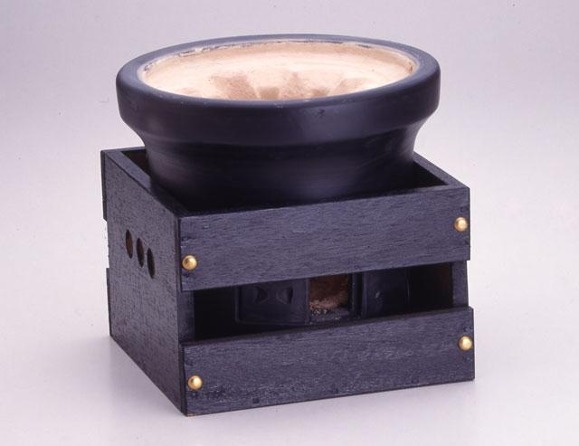 木炭コンロ 黒 専用木箱付き
