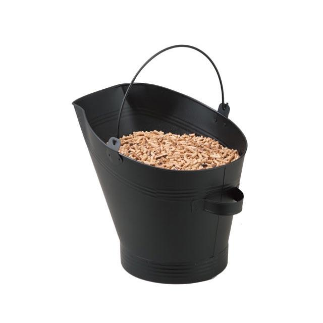 ペレット補給バケツ 9kg容量 ペレットストーブにペレットを上手に補給できるように工夫されています。