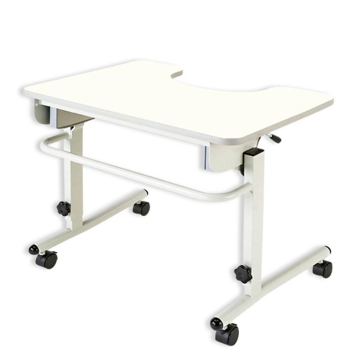 テーブル 車いす用 安心テーブル キャスター ANT-01NW