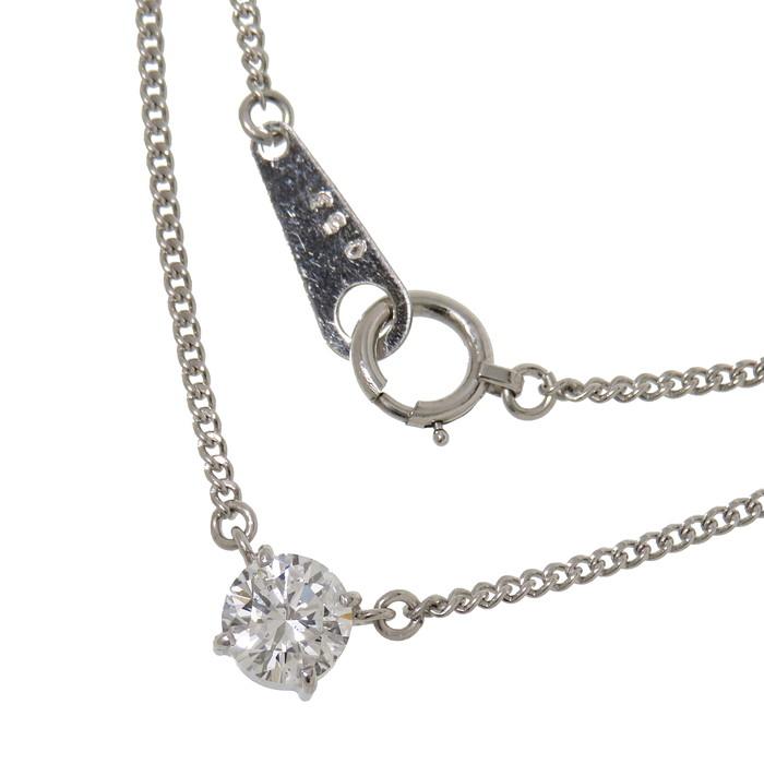 ダイヤモンド 0.53ct ネックレス Pt850プラチナ 3.3g 40cm レディース【中古】【真子質店】【TKx】